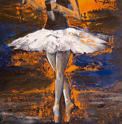 Painting - Ballerina En Pointe by Jani Freimann