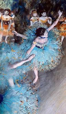 Stretch Painting - Ballerina On Pointe  by Edgar Degas