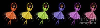 Digital Art - Ballerina Rainbow 2 by Andee Design