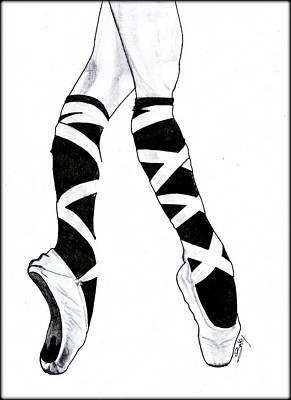 Painting - Ballerina by Saki Art