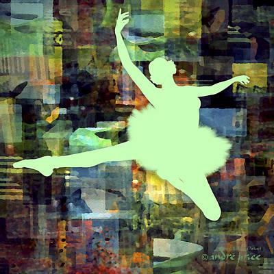 Ballerina Silhouette - Ballet Move 1 Art Print