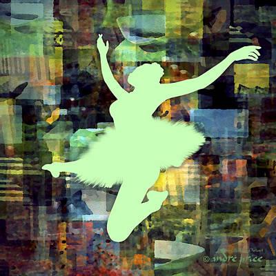 Ballerina Silhouette - Ballet Move 2 Art Print