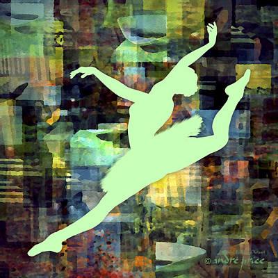 Ballerina Silhouette - Ballet Move 6 Art Print