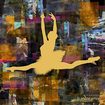 Ballerina Silhouette - Ballet Move 5 Art Print