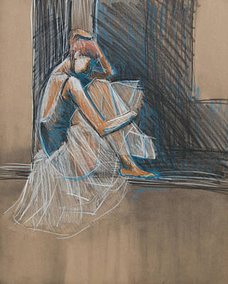 Mixed Media - Inner Turmoil Ballerina Sketch by Jani Freimann