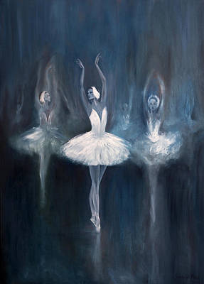 Painting - Ballerina. Swan Lake. by Salavat Fidai