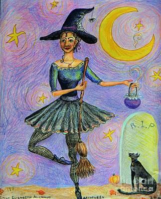 Ballerina Witch Art Print by Emily Michaud