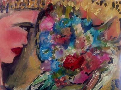 Applause Painting - Ballerinas Bouquet by Judith Desrosiers