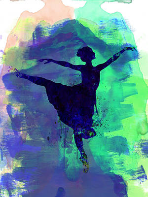 Ballet Painting - Ballerina's Dance Watercolor 2 by Naxart Studio