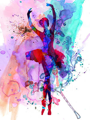 Ballet Painting - Ballerina's Dance Watercolor 3 by Naxart Studio