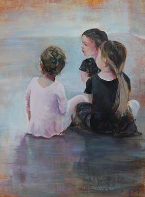 Painting - Ballerinas II by Susan Bradbury