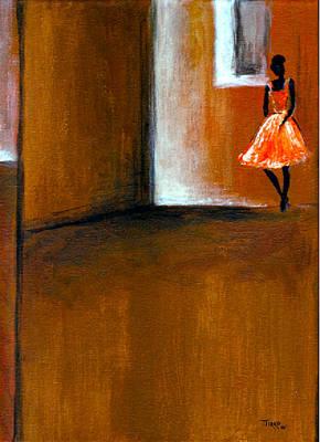 Ballerine Solitaire Art Print by Mirko Gallery