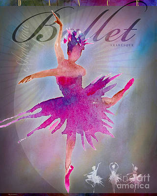 Digital Art - Ballet Arabesque Poster by Amy Kirkpatrick