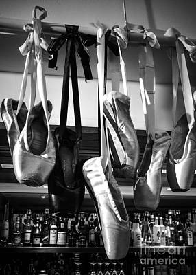 Ballet At The Bar Art Print by Peta Thames