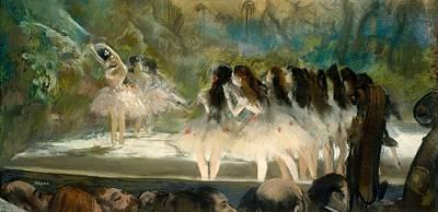 Ballet Painting - Ballet At The Paris Opera by Edgar Degas