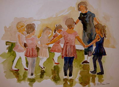 Art Print featuring the painting Ballet Class by Jeffrey S Perrine