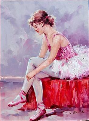 Ballet Dancer - 30x40 Cm Original by Sara Balido