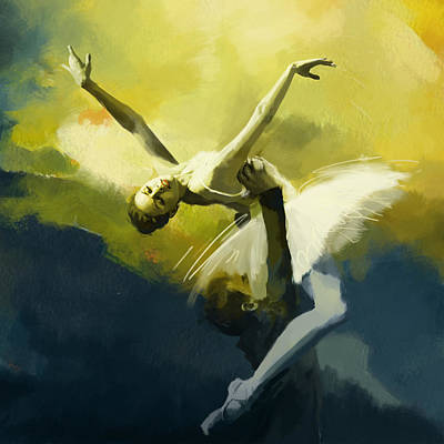 Swan Lake Painting - Ballet Dancer by Corporate Art Task Force