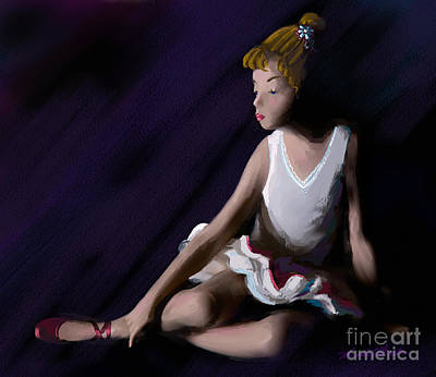 Painting - Ballet Dancer by Michelle Wiarda