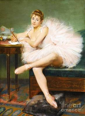 Ballet Painting - Ballet Dancer by Pg Reproductions