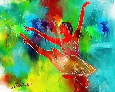Painting - Ballet Dancer by Robert Smith