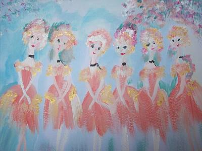 Ballet Group Art Print