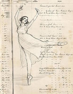 Shoe Digital Art - Ballet by H James Hoff