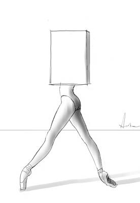 Dada Drawing - Ballet In A Box by H James Hoff
