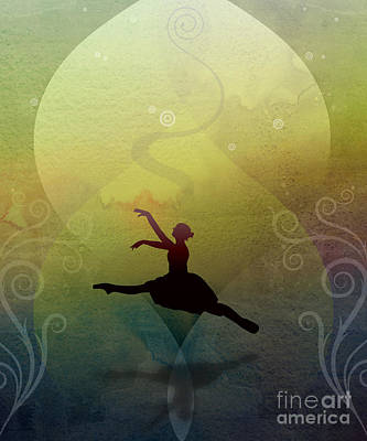 Dance Mixed Media - Ballet In Solitude - Color Verde by Bedros Awak