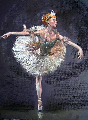 Art Print featuring the painting Ballet by Jieming Wang
