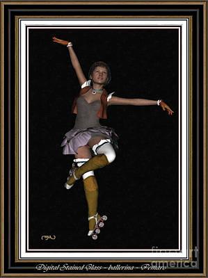 Ballet On Skates 1bos2 Art Print by Pemaro