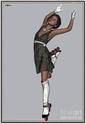 Ballet On Skates 2bos1 Print by Pemaro