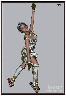 Ballet On Skates 7bos1 Print by Pemaro