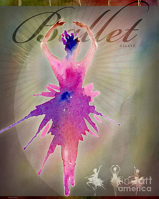 Digital Art - Ballet Releve Poster by Amy Kirkpatrick