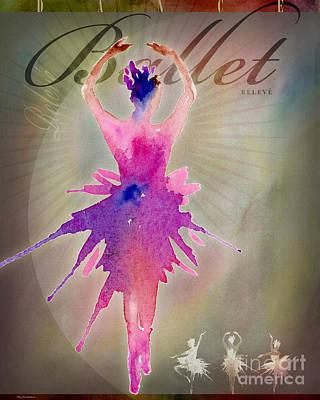 Digital Art - Ballet Releve Poster by Amy Kirkpatrick
