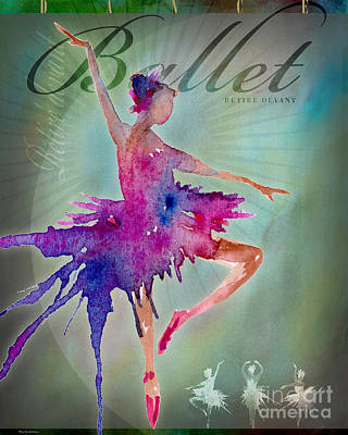 Digital Art - Ballet Retire Devant Poster by Amy Kirkpatrick