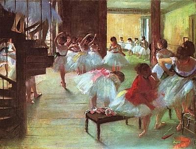 Ballet Painting - Ballet School by Edgar Degas