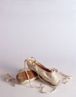 Ballet Shoes Photograph - Ballet Shoes On White by Jon Neidert