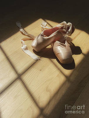 Pointe Shoes Photograph - Ballet Slippers by Diane Diederich