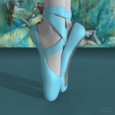 Ballet Toe Shoes With A Touch Of Edgar Degas Art Print by Andre Price