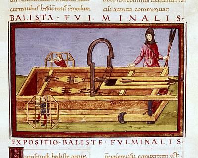 Ballista Fulminalis. Siege Machine Used Print by Everett