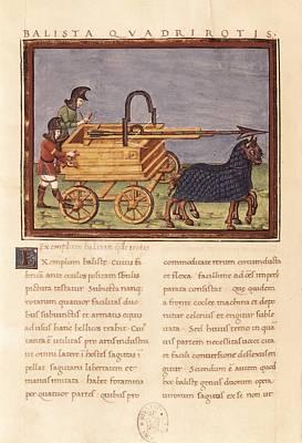 Ballista Quadrirotis. Carroballista Print by Everett