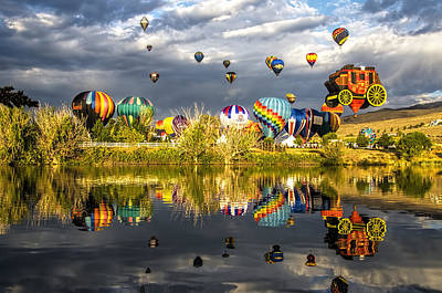 Photograph - Balloon Reflections by Maria Coulson