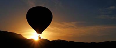 Photograph - Balloon And Sandia Sunrise II by Daniel Woodrum