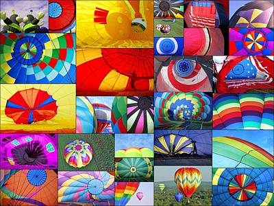 Hot Air Balloon Photograph - Balloon Fantasy Collage  by Allen Beatty