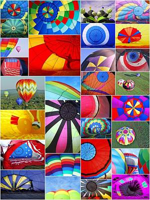 Photograph - Balloon Fantasy Collage by Allen Beatty