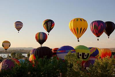 Photograph - Balloon Festival by Christopher James