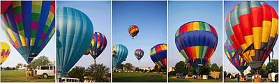 Different Colours Photograph - Balloon Festival Panels by Betsy Knapp