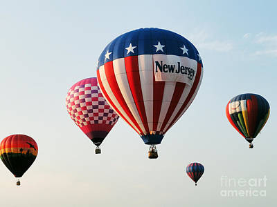 Print featuring the digital art Balloon Festival by Steven Spak