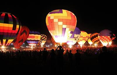 Photograph - Balloon Glow 2 by Diane Alexander